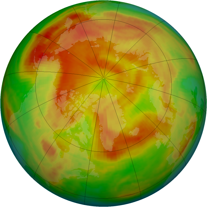 Arctic ozone map for 05 May 1998