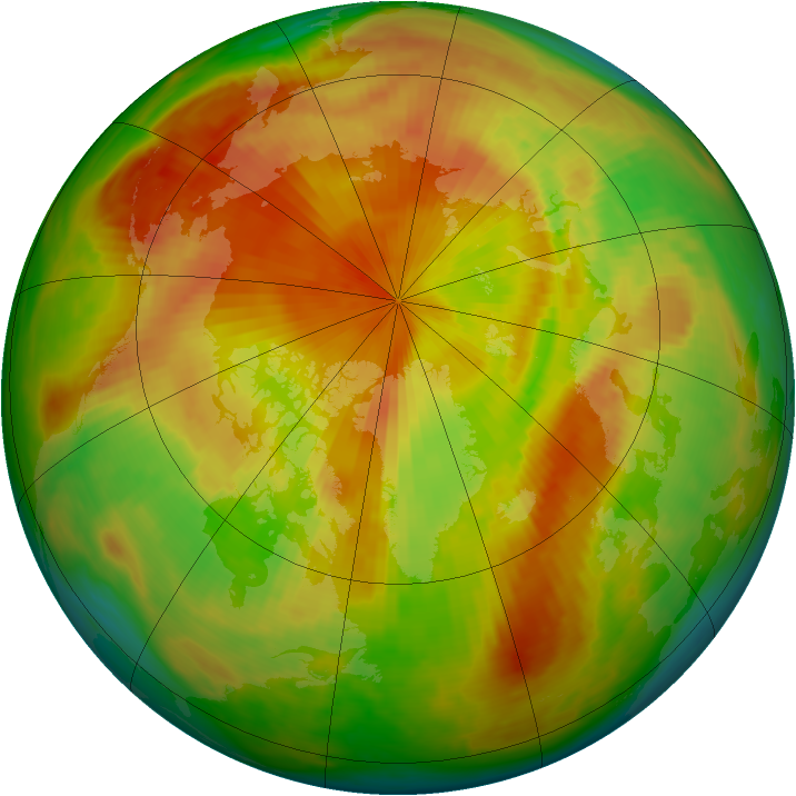 Arctic ozone map for 08 May 1998