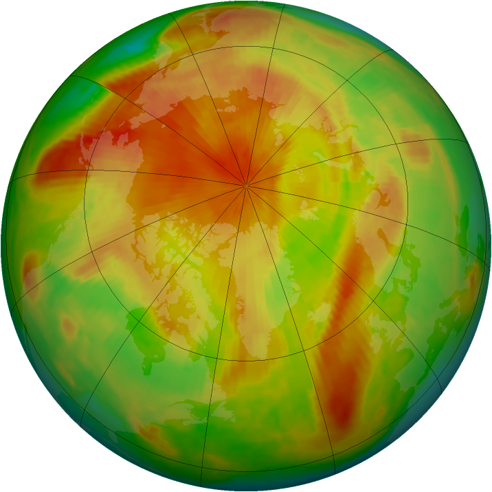 Arctic ozone map for 09 May 1998