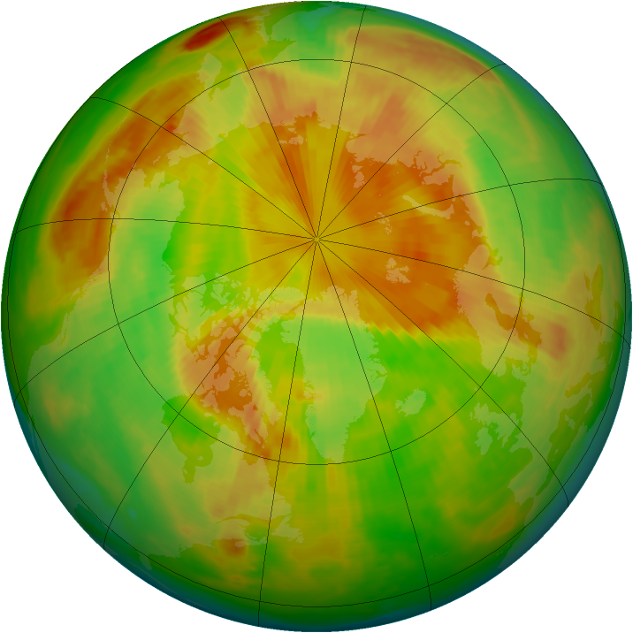 Arctic ozone map for 22 May 1998