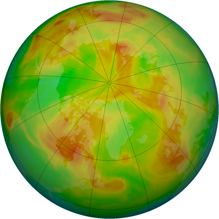 Arctic ozone map for 28 May 1998