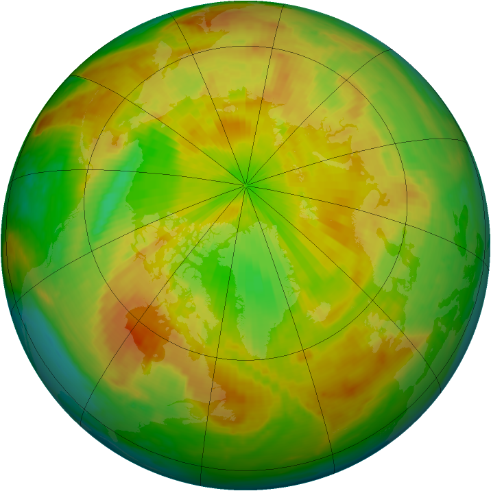 Arctic ozone map for 31 May 1998