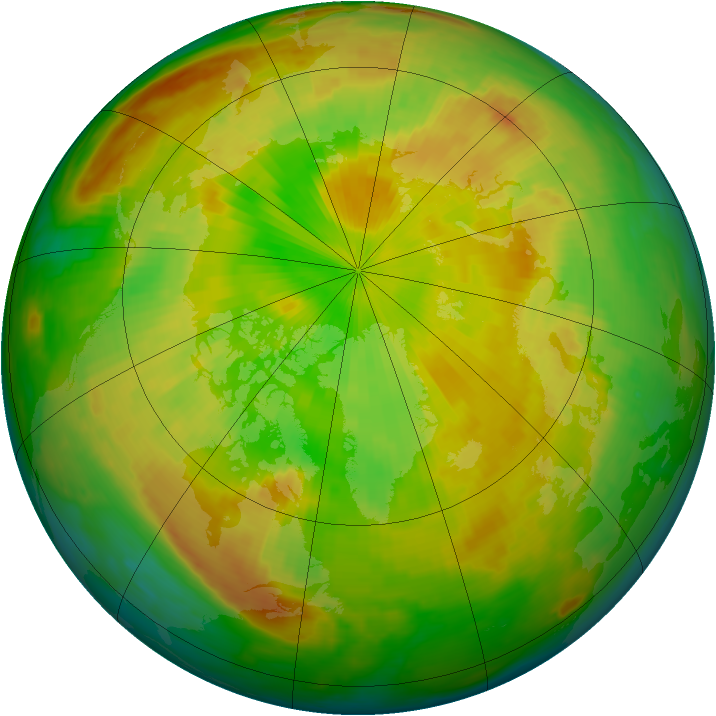 Arctic ozone map for 04 June 1998