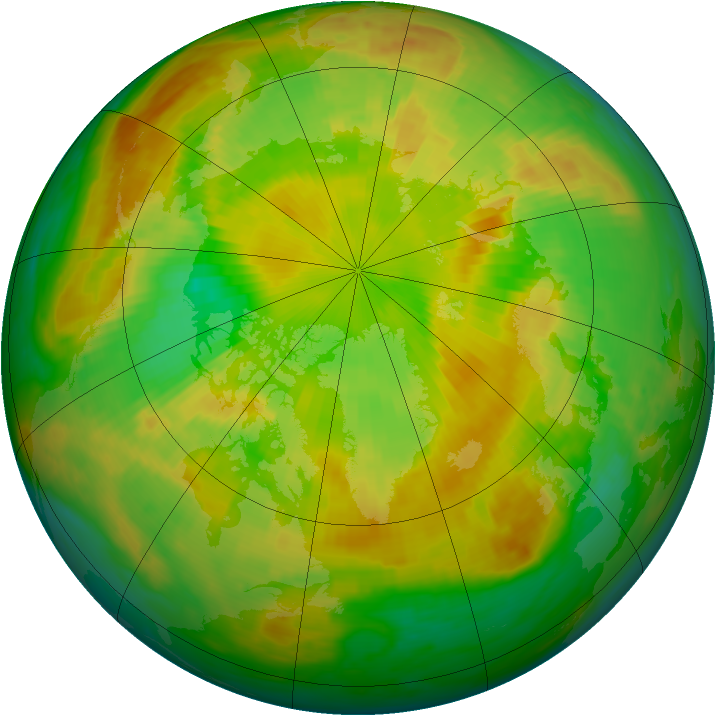 Arctic ozone map for 09 June 1998