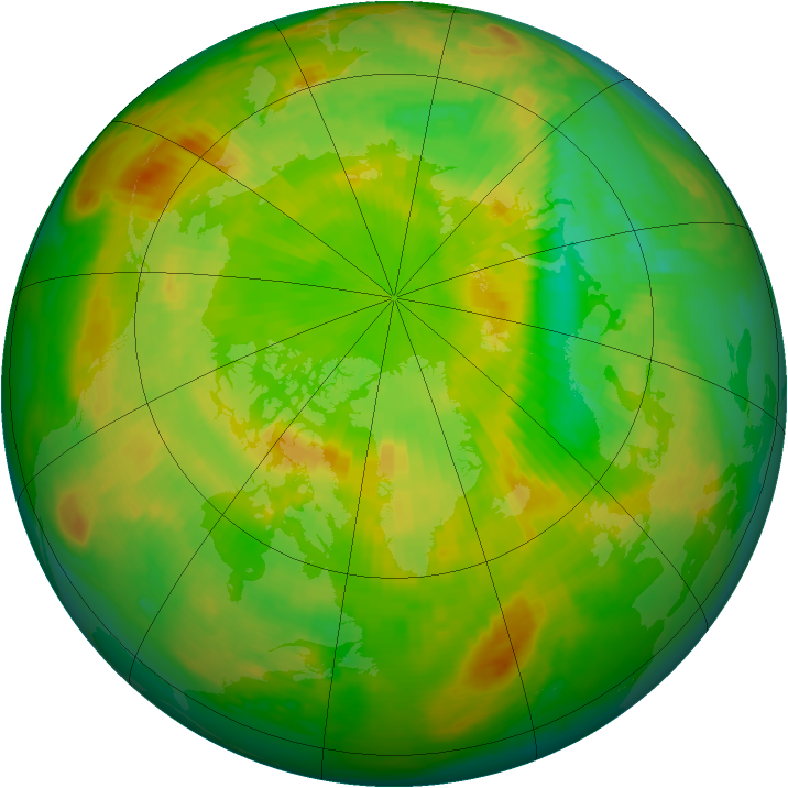 Arctic ozone map for 17 June 1998