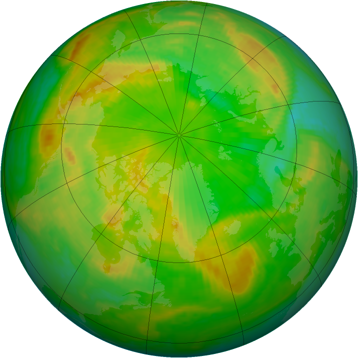 Arctic ozone map for 23 June 1998