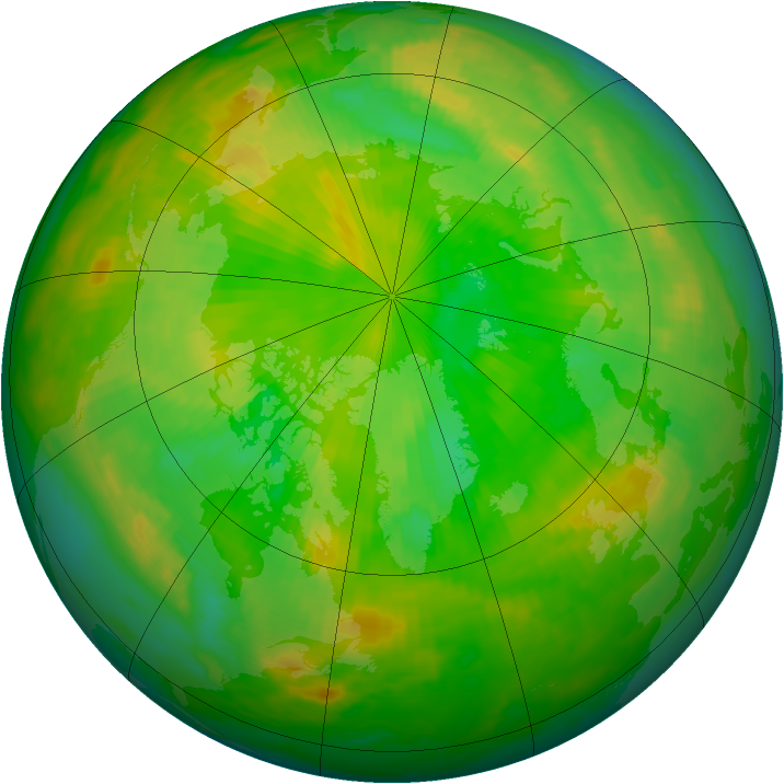 Arctic ozone map for 28 June 1998