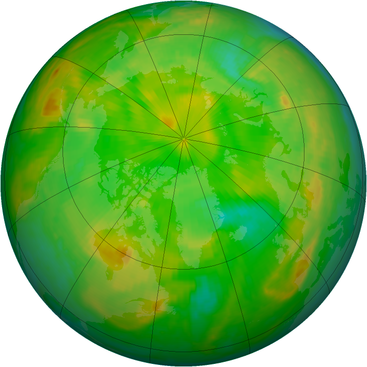 Arctic ozone map for 02 July 1998