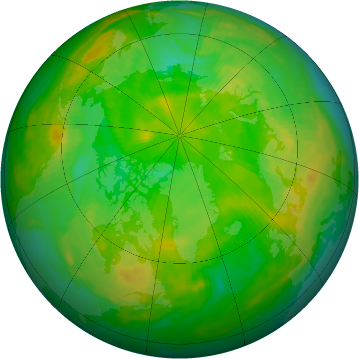 Arctic ozone map for 07 July 1998