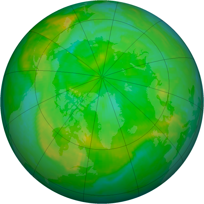 Arctic ozone map for 28 July 1998