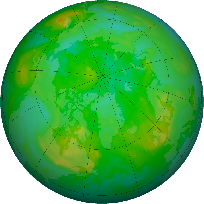 Arctic ozone map for 30 July 1998
