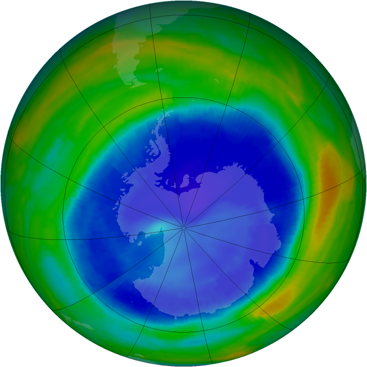 Antarctic ozone map for 01 September 1998