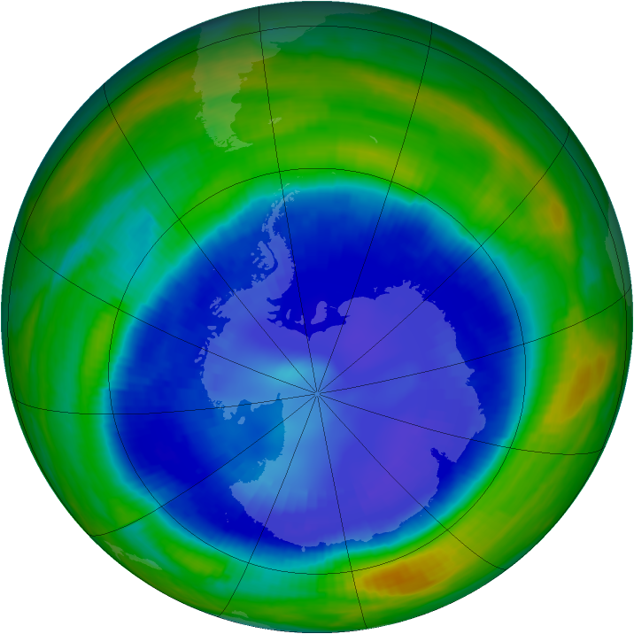 Antarctic ozone map for 02 September 1998