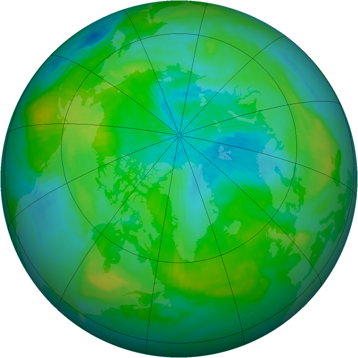 Arctic ozone map for 03 September 1998