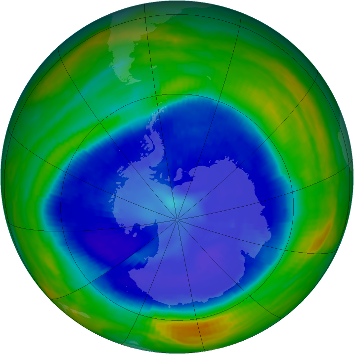 Antarctic ozone map for 03 September 1998