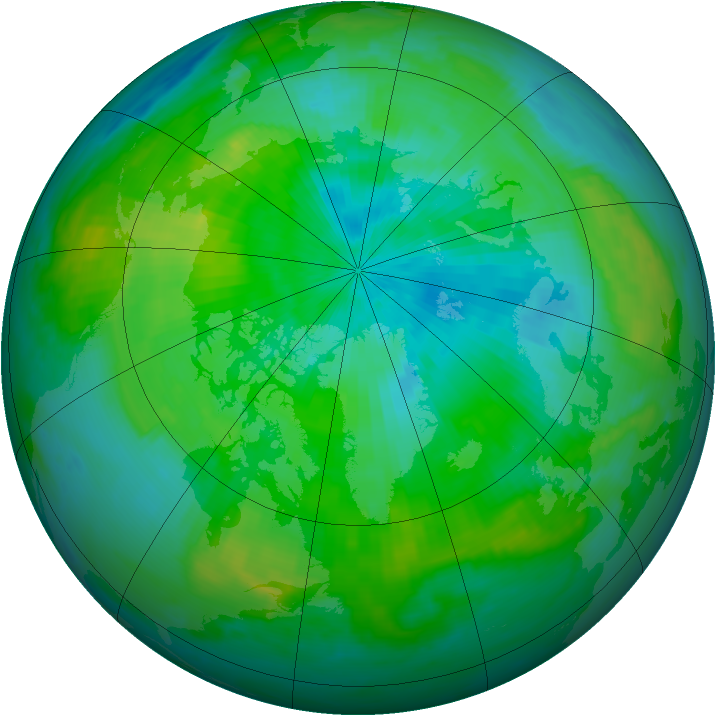 Arctic ozone map for 04 September 1998