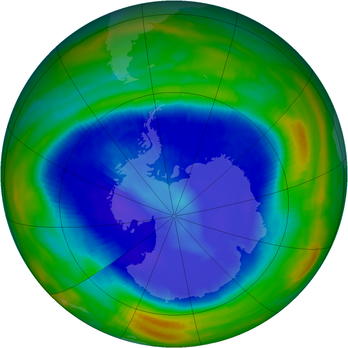 Antarctic ozone map for 04 September 1998