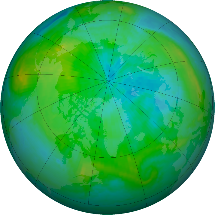 Arctic ozone map for 05 September 1998