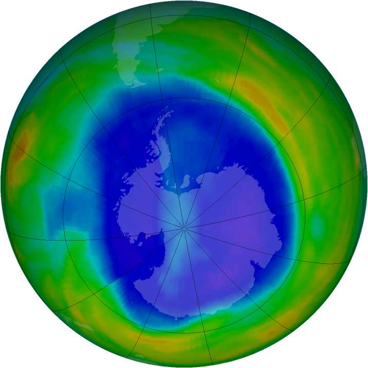 Antarctic ozone map for 06 September 1998