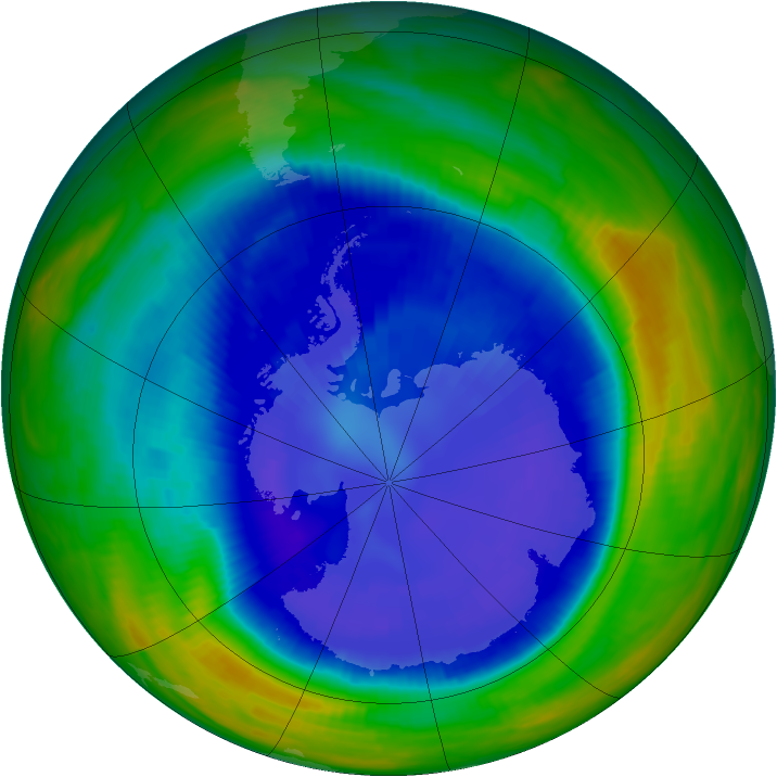 Antarctic ozone map for 07 September 1998