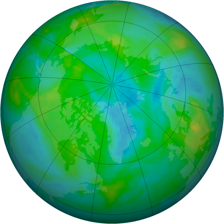 Arctic ozone map for 15 September 1998