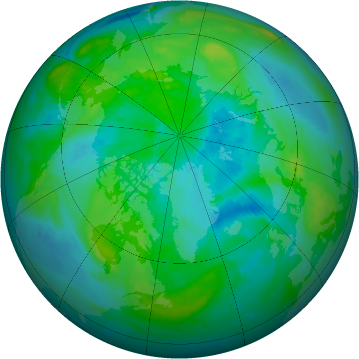 Arctic ozone map for 18 September 1998