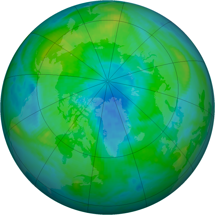 Arctic ozone map for 26 September 1998