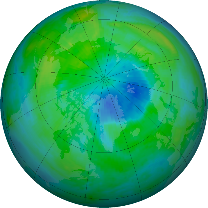 Arctic ozone map for 28 September 1998