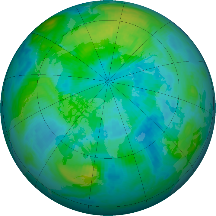 Arctic ozone map for 02 October 1998