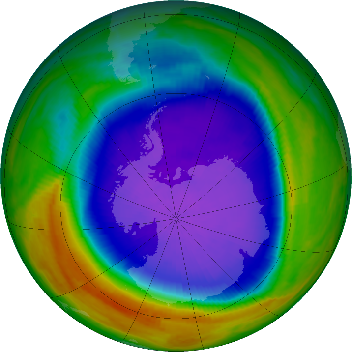 Antarctic ozone map for 02 October 1998