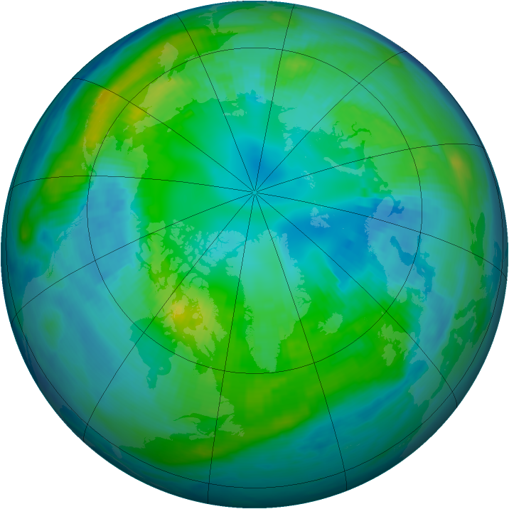 Arctic ozone map for 23 October 1998