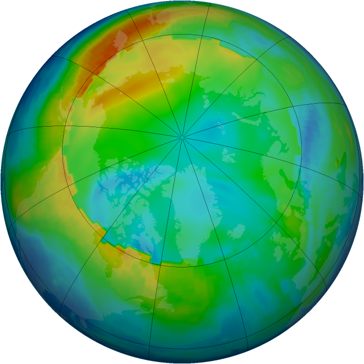 Arctic ozone map for 04 December 1998