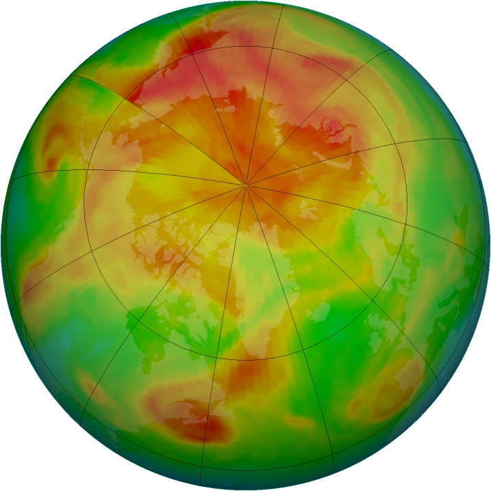Arctic ozone map for 28 April 1999