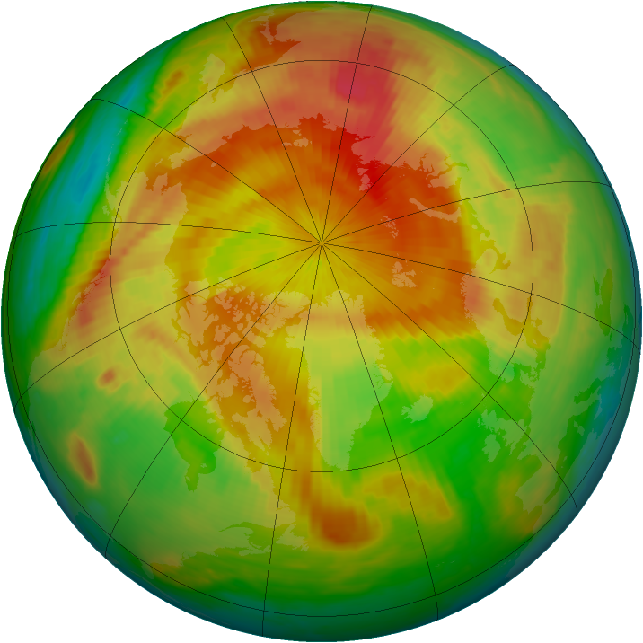Arctic ozone map for 02 May 1999