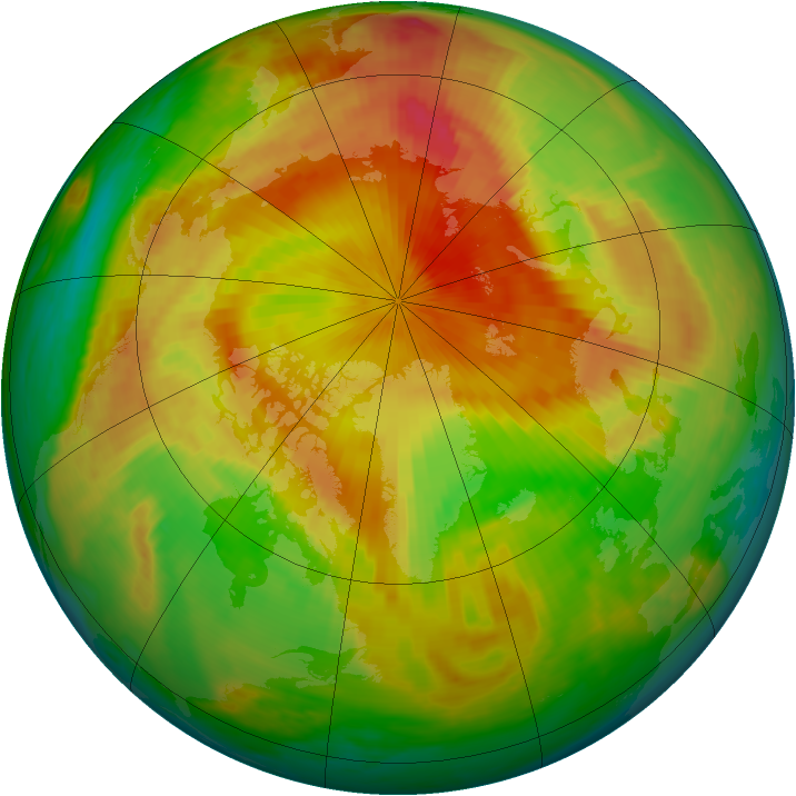 Arctic ozone map for 03 May 1999