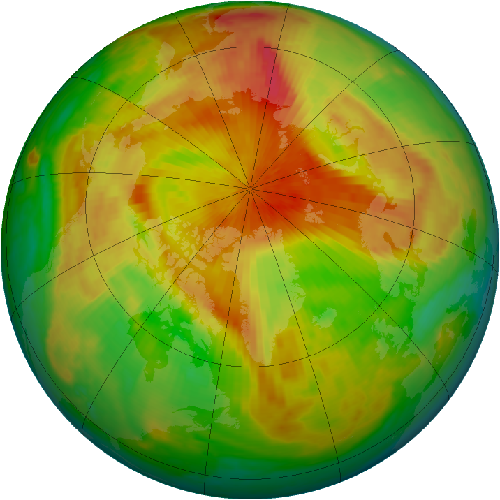 Arctic ozone map for 04 May 1999
