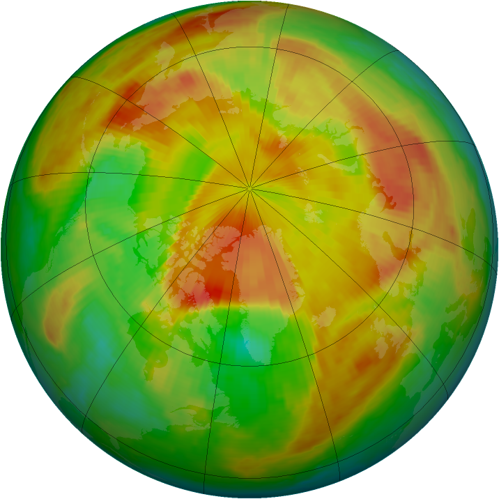 Arctic ozone map for 10 May 1999