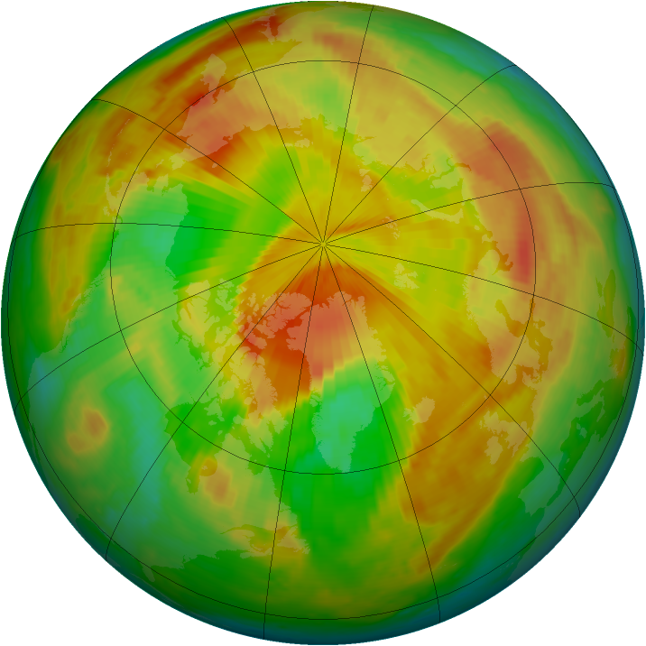 Arctic ozone map for 11 May 1999