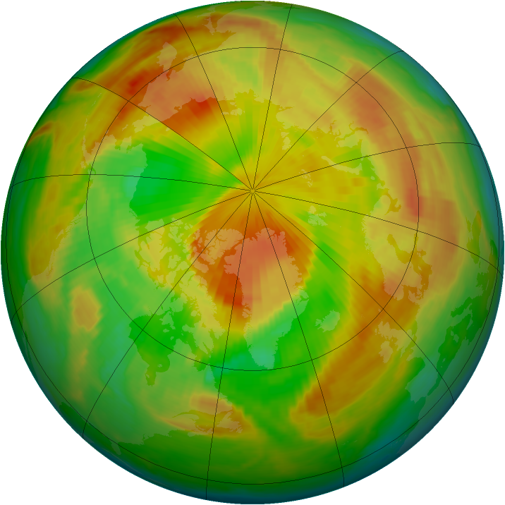 Arctic ozone map for 12 May 1999