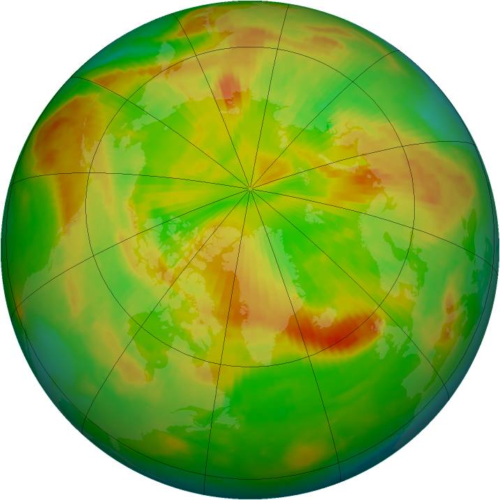 Arctic ozone map for 21 May 1999