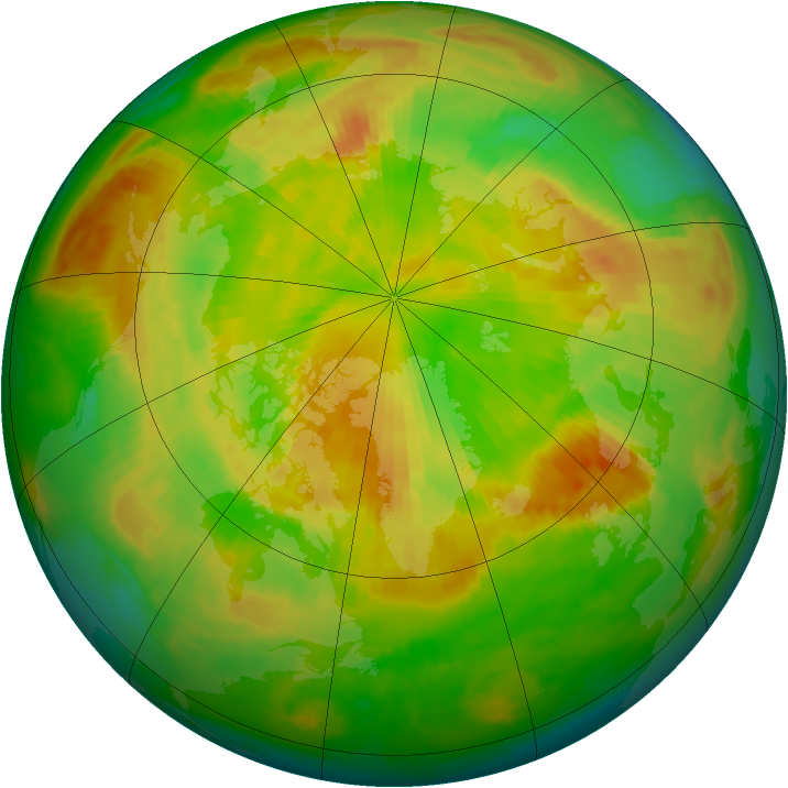 Arctic ozone map for 22 May 1999