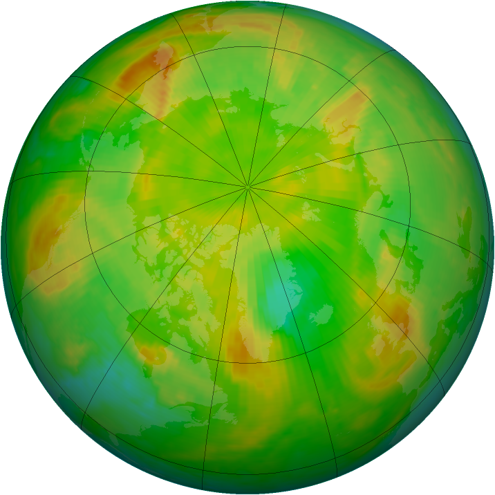 Arctic ozone map for 06 June 1999