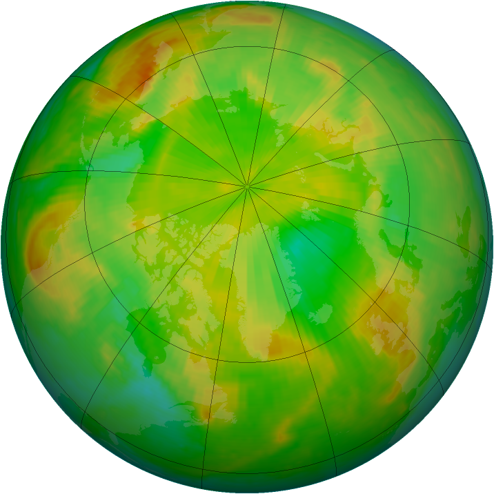 Arctic ozone map for 07 June 1999