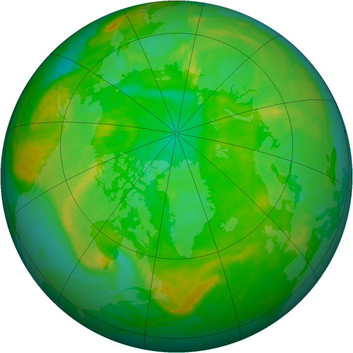 Arctic ozone map for 06 July 1999