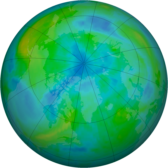 Arctic ozone map for 21 September 1999