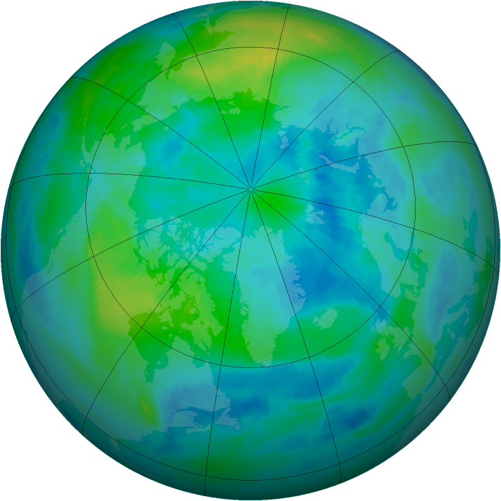 Arctic ozone map for 30 September 1999
