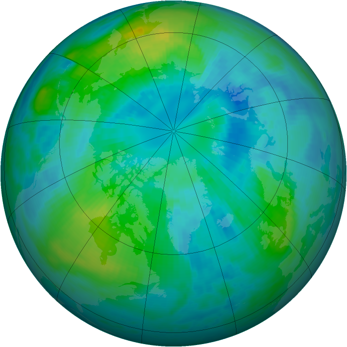 Arctic ozone map for 03 October 1999