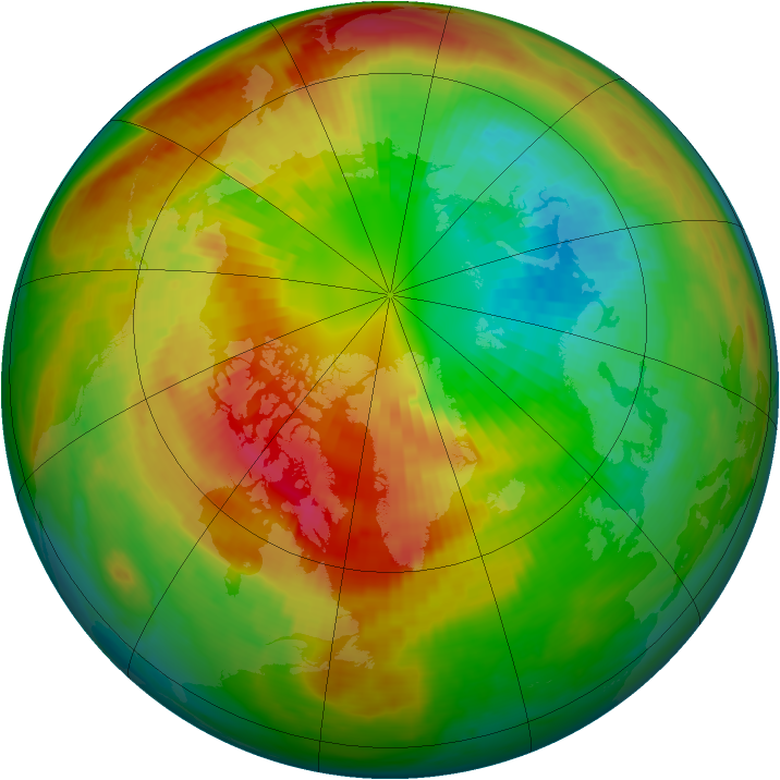 Arctic ozone map for 08 March 2000
