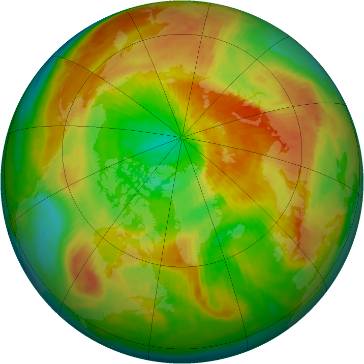 Arctic ozone map for 27 March 2000