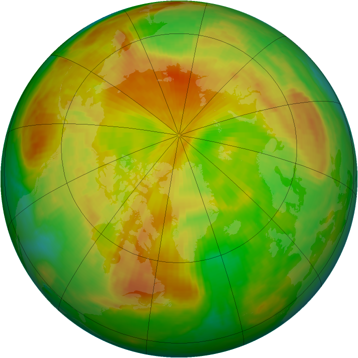 Arctic ozone map for 02 May 2000